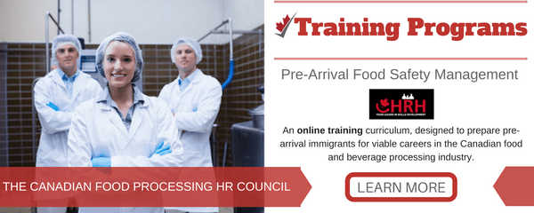 Pre-arrival food safety management training