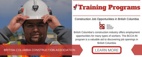 Construction Jobs in British Columbia