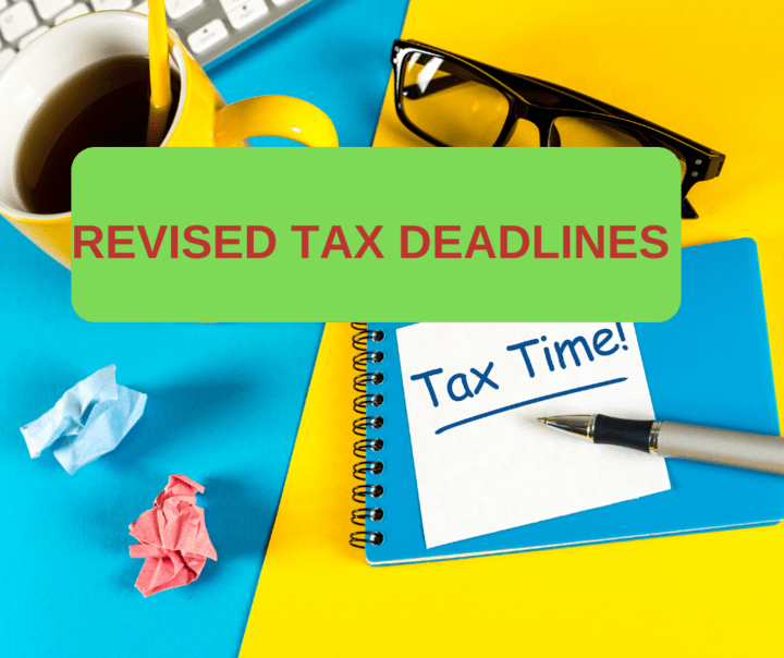Tax deadline extended due to COVID-19