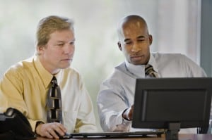 Two people job shadowing