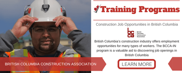 Construction Job Opportunities in British Columbia