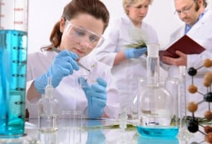 Biotechnologist working in a Canadian company