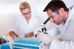 Technicians in a medical laboratory