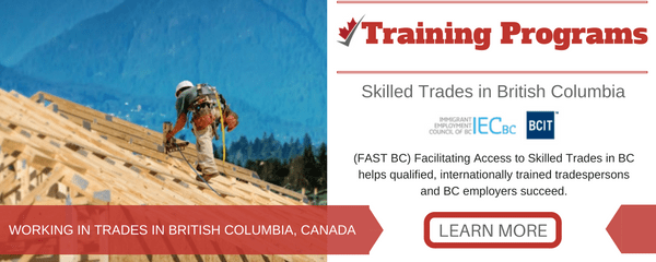 Skilled Trades in British Columbia, Canada