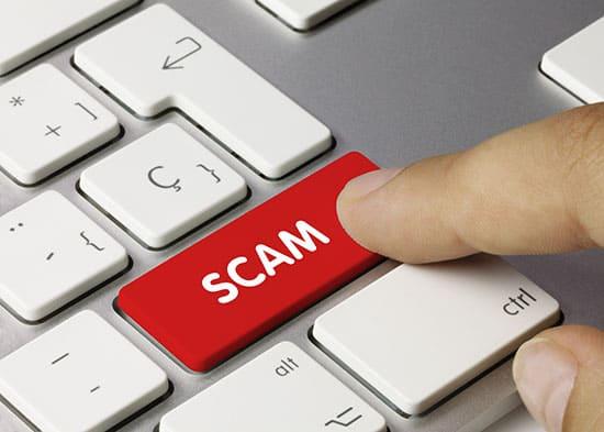 Scam keyboard key