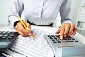 Accountant working with documents
